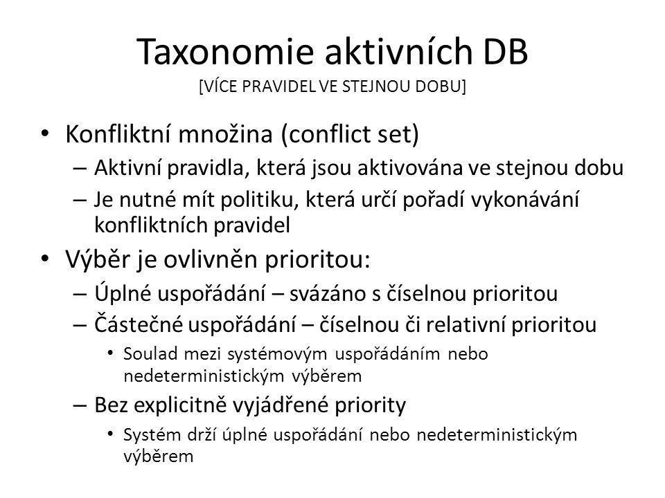 Taxonomie aktivních DB [VÍCE PRAVIDEL VE STEJNOU DOBU]
